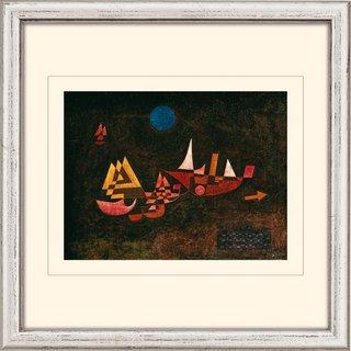 Paul Klee: Bild 'Abfahrt der Schiffe' (1927), gerahmt