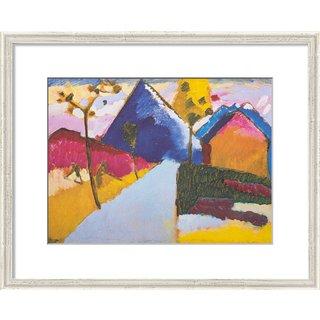 Wassily Kandinsky: Bild 'Kochel - Gerade Straße' (1909), gerahmt
