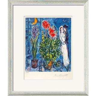 Marc Chagall: Bild 'Les Mariés', gerahmt