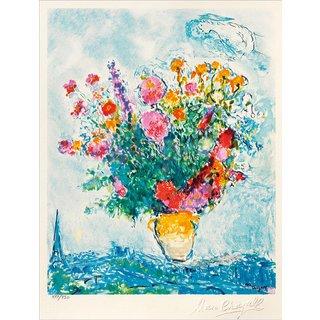 Marc Chagall: Bild 'Le Bouquet et la Tour Eiffel', ungerahmt