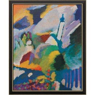 Wassily Kandinsky: Bild 'Kirche in Murnau' (1910), gerahmt
