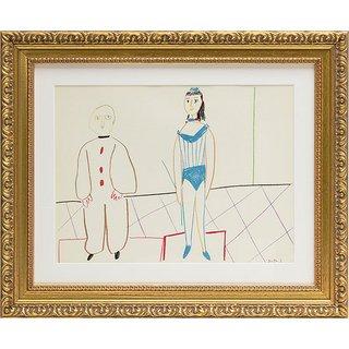 Pablo Picasso: Bild 'Die Vorführung' (1954), gerahmt