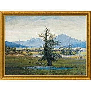 Caspar David Friedrich: Bild 'Der einsame Baum' (1821), gerahmt