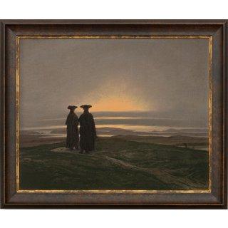Caspar David Friedrich: Bild 'Sonnenuntergang (Die Brüder)' (1830-35), gerahmt