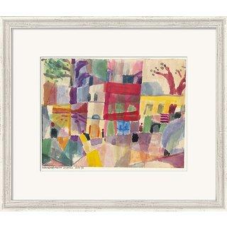 Paul Klee: Bild 'Rote und gelbe Häuser in Tunis' (1914), gerahmt