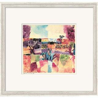 Paul Klee: Bild 'Hammamet' (1914), gerahmt