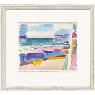 Paul Klee: Bild 'Badestrand St. Germain bei Tunis' (1914), gerahmt