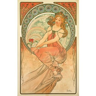Alphonse Mucha: Glasbild 'Die Malerei' (1898)