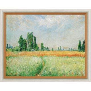 Claude Monet: Bild 'Weizenfeld' (1881), gerahmt