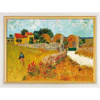 Vincent van Gogh: Bild 'Un Mas de Provence (Ein Bauernhaus in der Provence)' (1888), gerahmt