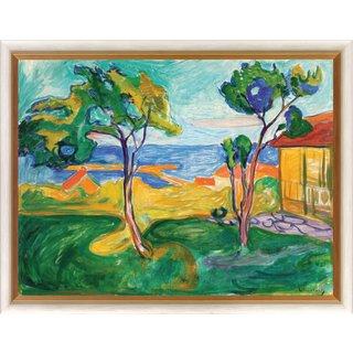 Edvard Munch: Bild 'Der Garten in Asgardstrand' (1904-05), gerahmt