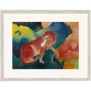 Franz Marc: Bild 'Der rote Hund' (1911), gerahmt