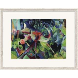 Franz Marc: Bild 'Reh im Blumengarten' (1913), gerahmt