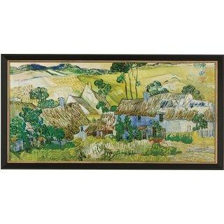 Vincent van Gogh: Bild 'Bauernhöfe bei Auvers' (1890), gerahmt