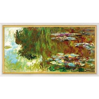 Claude Monet: Bild 'Le bassin aux nymphéas' (1917-1919), gerahmt