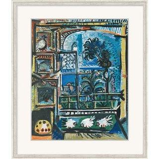 Pablo Picasso: Bild 'Die Tauben' (1957), gerahmt