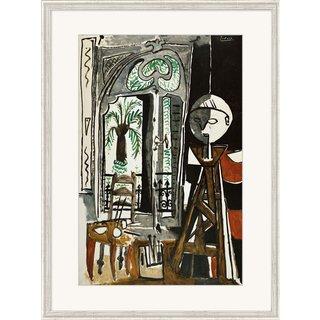 Pablo Picasso: Bild 'Das Atelier' (1955), gerahmt