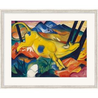 Franz Marc: Bild 'Die gelbe Kuh' (1911) , gerahmt