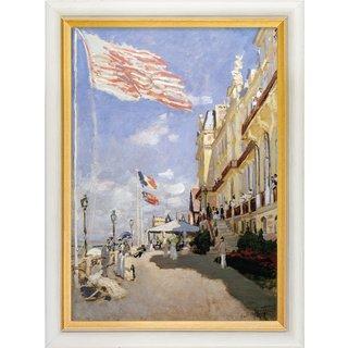 Claude Monet: Bild 'Das Hotel des Roches Noires in Trouville' (1870), gerahmt