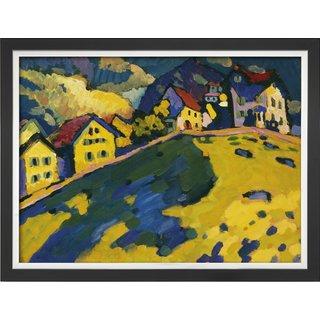 Wassily Kandinsky: Bild 'Studie für Häuser am Hügel', gerahmt
