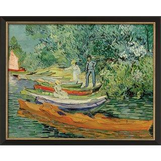 Vincent van Gogh: Bild 'Am Ufer der Oise in Auvers' (1890), gerahmt