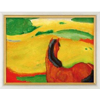 Franz Marc: Bild 'Pferd in der Landschaft' (1910), gerahmt
