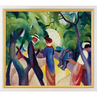August Macke: Bild 'Promenade' (1913), gerahmt