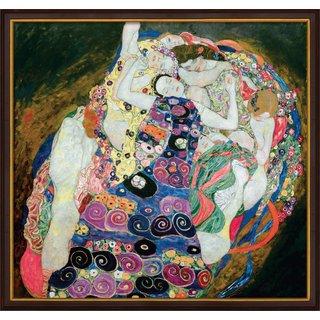 Gustav Klimt: Bild 'The Virgins (Jungfrauen)' (1913), gerahmt
