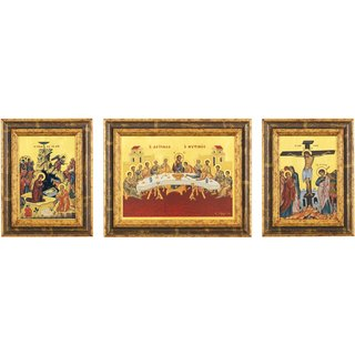 Bildikonen vom Berg Athos, 3er-Set
