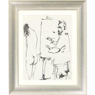 Pablo Picasso: Bild 'Ohne Titel' (1954), gerahmt