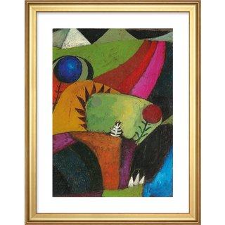 Paul Klee: Bild 'Drei weiße Glockenblumen' (1920), gerahmt