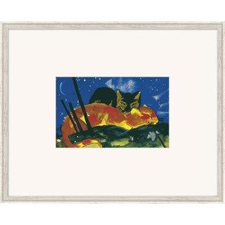 Franz Marc: Bild 'Zwei Katzen' (1913), gerahmt