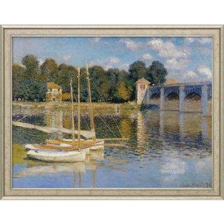 Claude Monet: Bild 'Die Brücke von Argenteuil' (1874), gerahmt