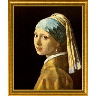 Jan Vermeer van Delft: Bild 'Das Mädchen mit dem Perlenohrring' (1665), gerahmt