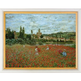 Claude Monet: Bild 'Champ des coquelicots près de Vétheuil (Mohnblumen bei Vétheuil)' (1879), gerahm