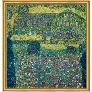 Gustav Klimt: Bild 'Landhaus am Attersee' (1914), gerahmt