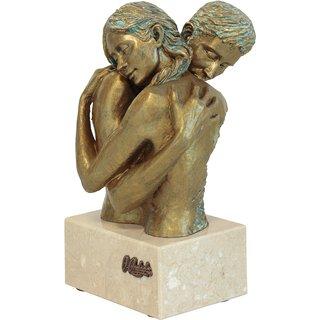 Angeles Anglada: Skulptur 'Idyll', Kunstguss Steinoptik