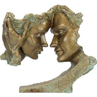 Angeles Anglada: Skulptur 'Pretext', Kunstguss Steinoptik