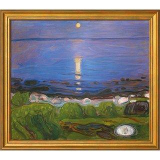 Edvard Munch: Bild 'Eine Sommernacht am Strand' (1902), gerahmt