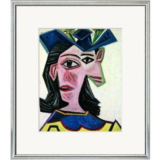 Pablo Picasso: Bild 'Frauenbüste mit Hut (Dora)' (1939), gerahmt