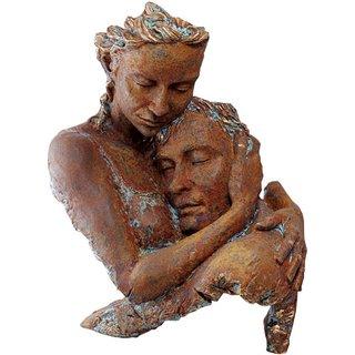 Angeles Anglada: Skulptur 'Agreement', Kunstguss Steinoptik