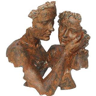Angeles Anglada: Skulptur 'Beieinander', Kunstguss Steinoptik