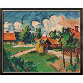 Max Pechstein: Bild 'Abendwolken' (1922), gerahmt
