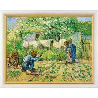Vincent van Gogh: Bild 'Die ersten Schritte' (1890), gerahmt