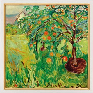 Edvard Munch: Bild 'Apfelbaum am Atelier' (1920-28), gerahmt