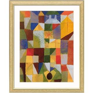 Paul Klee: Bild 'Städtische Komposition m. d. gelben Fenstern' (1919), gerahmt