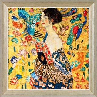 Gustav Klimt: Bild 'Dame mit Fächer' (1917/18), gerahmt