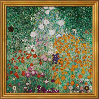 Gustav Klimt: Bild 'Bauerngarten', gerahmt
