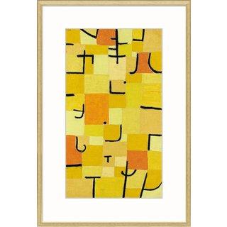 Paul Klee: Bild 'Zeichen in Gelb' (1937), gerahmt