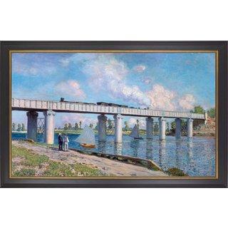 Claude Monet: Bild 'Die Eisenbahnbrücke von Argenteuil' (1873), gerahmt